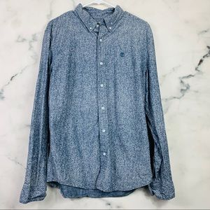 Timberland Blue Button Down Shirt